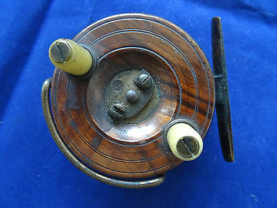 "An X-Rare 3"" Size Vintage Hardy Wooden Nottingham Centrepin Reel"