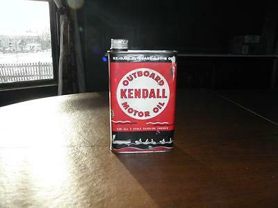 Vintage Kendall Outboard Motor Oil 2 Cycle Quart Can Full