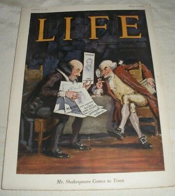 Life magazine 1923  shakespeare cover great ads