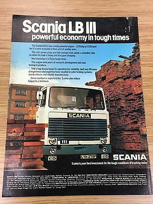 RARE 1976 SCANIA LB III A4 Vintage Colour Truck Advert