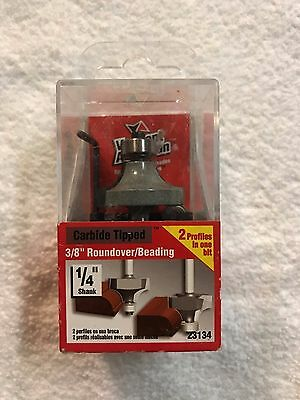 "Vermont American Carbide Tipped 3/8"" Roundover/Beading Router Bit-23134-FREESHIP"