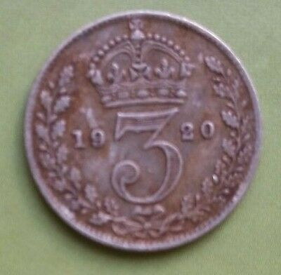 1920 George V Silver Threepence coin