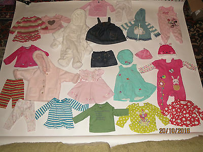 Baby Bundle Clothes Lot Used New Job Girl Brand Gap Next Dress Hats 3-6 Months