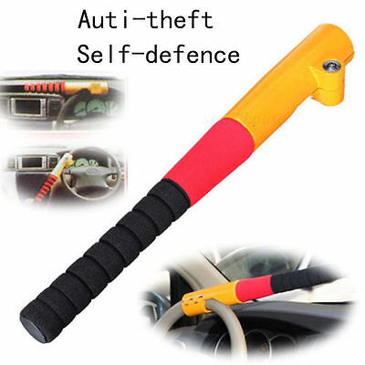 Universal Anti Theft Rotary Security Safety Car Steering Wheel alarm Lock 2 Keys