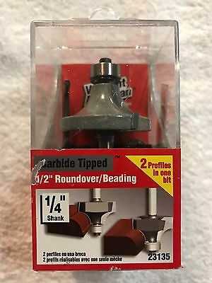"""Vermont American Carbide Tipped 1/2"""" Roundover/Beading Router Bit-23135-FREESHIP"""