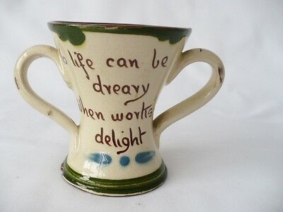 Two Pieces Of Vintage Torquay Motto Ware - Aller Vale