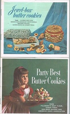 Pillsbury's Best Flour Booklet Inserts Jewel Box Party Best Butter Cookies 1960