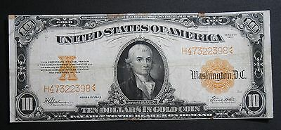 1922 $10 Gold Certificate Michael Hilligas Note Ten Dollars $10.00