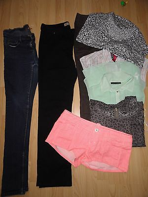 Ladies women clothes bundle size 12 Jeans Shorts Tops Touusers Next 8 items