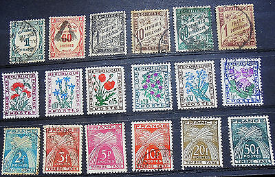 France Lot Timbres Taxe