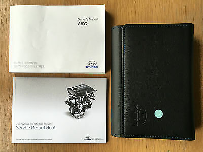 HYUNDAI i30 OWNERS MANUAL HANDBOOK PACK WITH WALLET +SERVICE 2011-2016 REF3586
