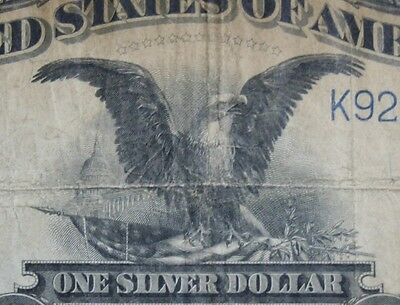 1899 $1 Black Eagle Note Silver Certificate One Dollar $1.00