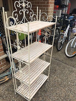 Antique portable metal display stand
