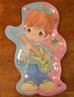 PRECIOUS MOMENTS Girl Playing Guitar Shaped Serving Plate 2006