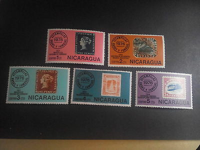 Nicaragua - 1976 - Rare Stamps - Stamp On Stamp - Part Set Only