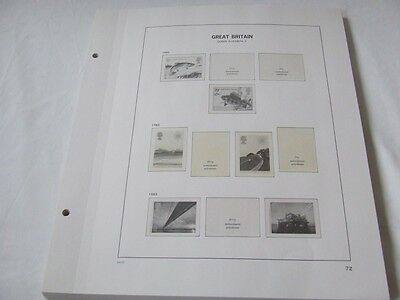 Stanley Gibbons Davo 2-Peg Great Britain Illustrated Stamp Album Leaves 1983-91
