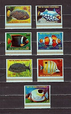 STAMPS.Equatorial Guinea Ecuatorial Tropical fish MNH