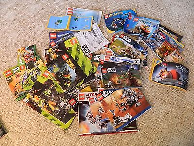 Lot of Lego Instruction Manuals Including Star Wars Power Miners Creation Police