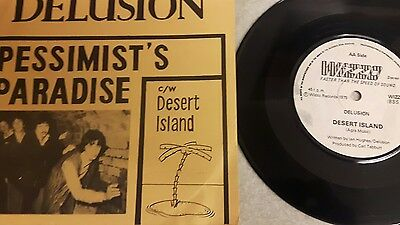delusion 45rpm pessimist's paradise new wave pub rock 1979 signed by 2 members
