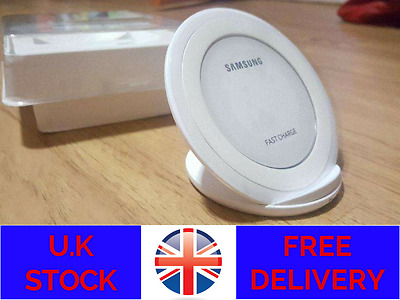 Wireless Samsung Galaxy S7 Edge S6 Fast Qi Wireless Charger Pad With Stand White