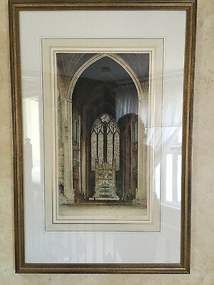 Set of 4 cathedral etchings
