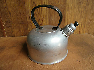 Vintage Aluminium Whistling Kettle - 6 Cup Size -Camping, Picnic, Bbq, Stove Top