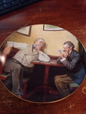 Knowles Plate Best Friends Norman Rockwell 1988 Golden Moments 1120-1126D