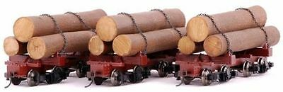 NIB Bachmann Spectrum On30 #27391- 3 Pack Skeleton Logging Cars w/Logs