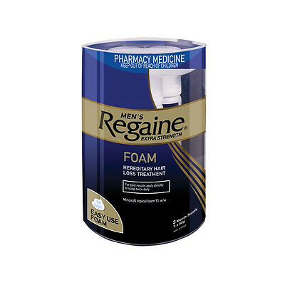 60ml X 3 Regaine Men Hair Loss Foam Extra Strength Minoxidil