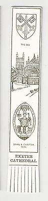 Exeter Cathedral. Cream Leather English Bookmark.