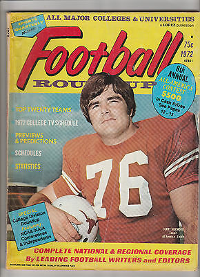 1972 FOOTBALL ROUNDUP College Yearbook Sports Quarterly / Lopez JERRY SISEMORE