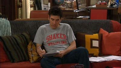Ted Mosby's shaker wrestling t shirt worn on How I Met Your Mother HIMYM tv prop