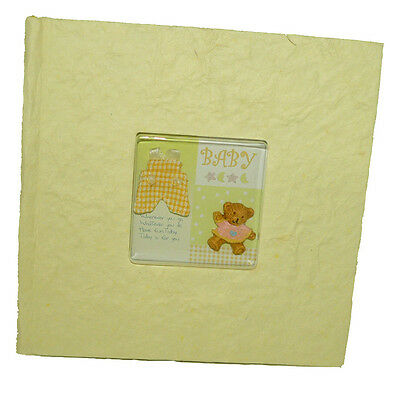 200 Pic Newborn Baby Yellow Photo Album Teddy Bear Cover Shower Boy Girl Gift