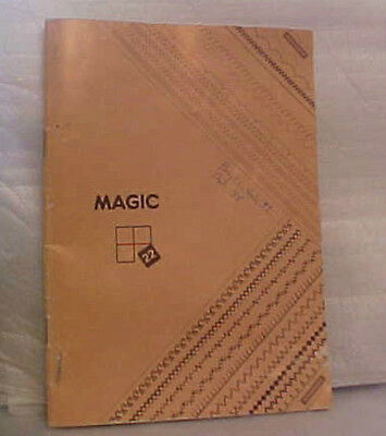 Singer Sewing Machine MAGIC 22 Instruction Booklet 1984