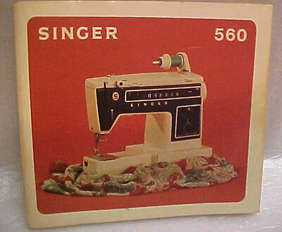 Singer Sewing Machine Instruction Booklet #560 Dated 1975
