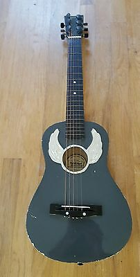 """Child's Guitar 31"""" First Act FG210 Wooden Guitar Metal Strings Scuffs Scratches"""