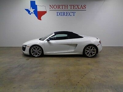 2012 Audi R8  12 R8 Convertible 5.2L V10 525 HP GPS Navi Camera Carbon Fiber We Finance Texas