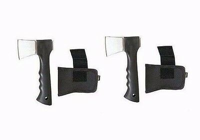 (2) Hatchet with Holster ~ Compact Axe ~ Camping ~ Firewood ~ New ~ Free Ship