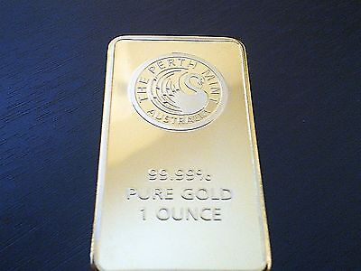 Perth Mint Gold Plated Bar Money Clip