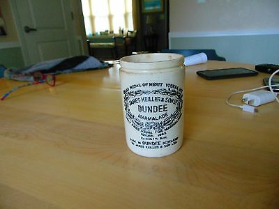 James Keiller & Sons Dundee Marmalade 1862 Dated Pottery Jelly Jar