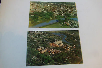 London, Ont.,Canada 2 Vintage Post Cards-Aerial Views--City & Victoria Hospital