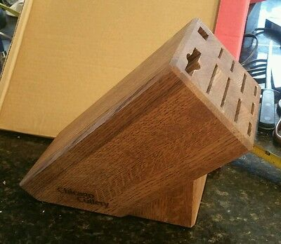 Vintage Chicago Cutlery knife block