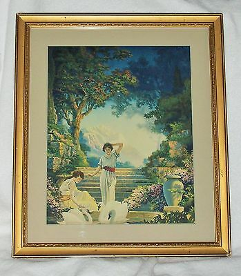 Vintage Art Deco Print  THE GARDEN OF DREAMS By CK VAN NORTWICK Original; Framed