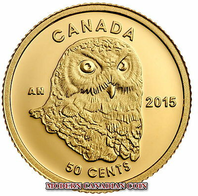 Canada 2015 - 50 Cent Pure Gold Coin - Owl