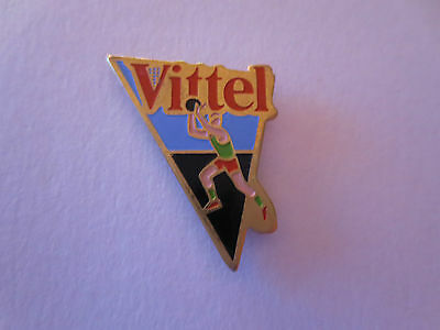 Basketball Player Official Sponsor Vittel Water Advertising Sports Pin Badge