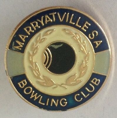 Marryatville South Australia Bowling Club Badge Rare Vintage (L2)