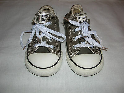 Converse ALL STAR  Toddler Size 7 - GRAY - Athletic Slip On Shoes w/laces