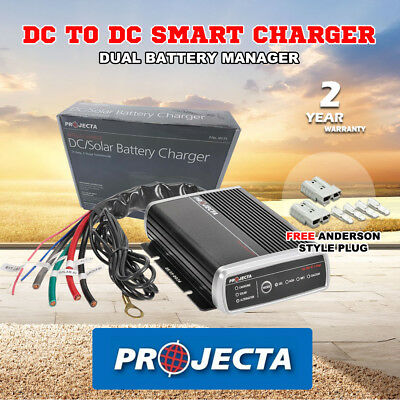 Projecta Idc25 12V Volt Dc To Dc 25A Amp Battery Charger Agm Deep Cycle Solar Lv