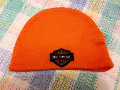 New Harley Davidson Motor Cycles Infant Baby Hat Cap Reborn Doll Orange Boy Girl
