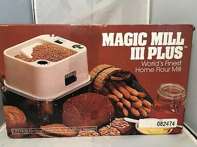 Magic Mill 3 III Plus High Speed Wheat Grinder Flour Mill !!!
